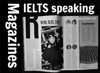 IELTS speaking favourite magazine, an interesting magazine article