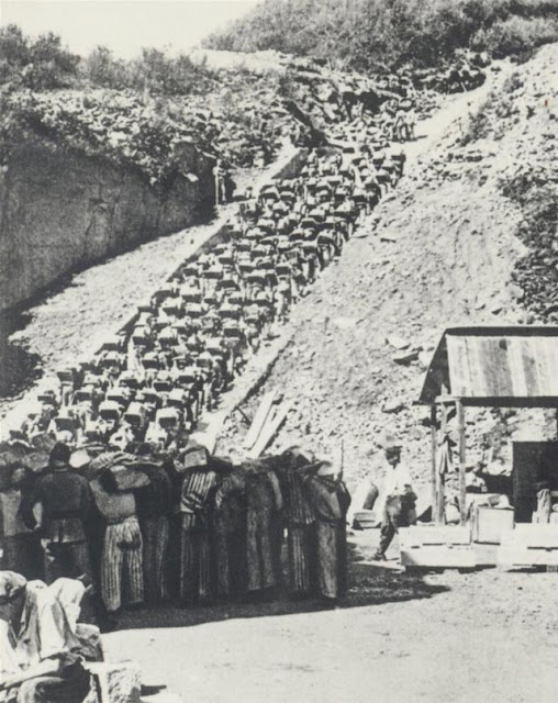 The stairs of death at Mauthausen during World War II worldwartwo.filminspector.com
