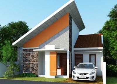 Gambar atap rumah minimalis desain sandar