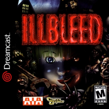 Illbleed Sega Dreamcast horror game cover art
