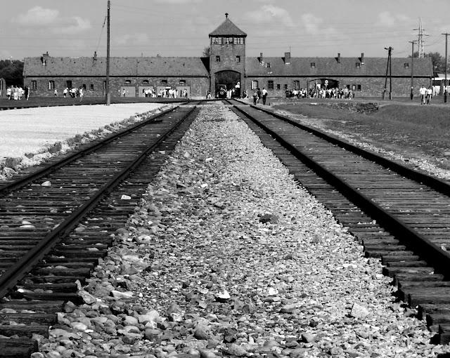 Vías de tren en Birkenau