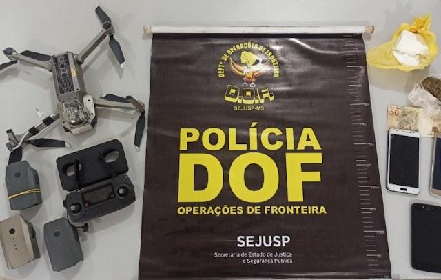 DOF prende trio que iria usar drone para entregar drogas e celulares em Presidio
