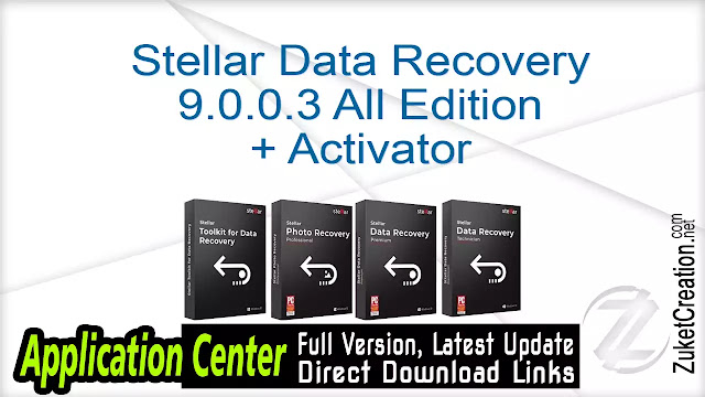 Stellar Data Recovery 9.0.0.3 All Edition + Activator