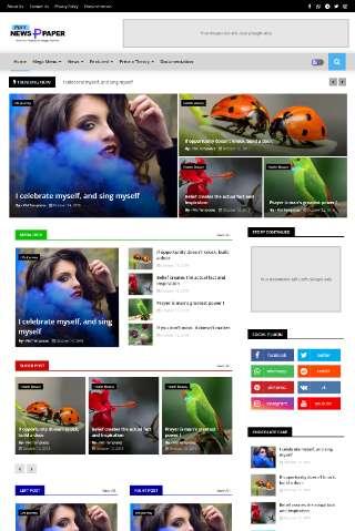 Blogger Template Pixy Newspaper