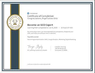 Especialista posicionamiento web Colombia, certificado
