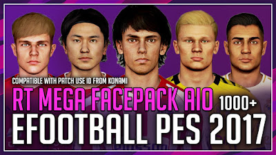 PES 2017 RT Mega Facepack AIO 2020 by Rean Tech [ 3500+ Faces ]