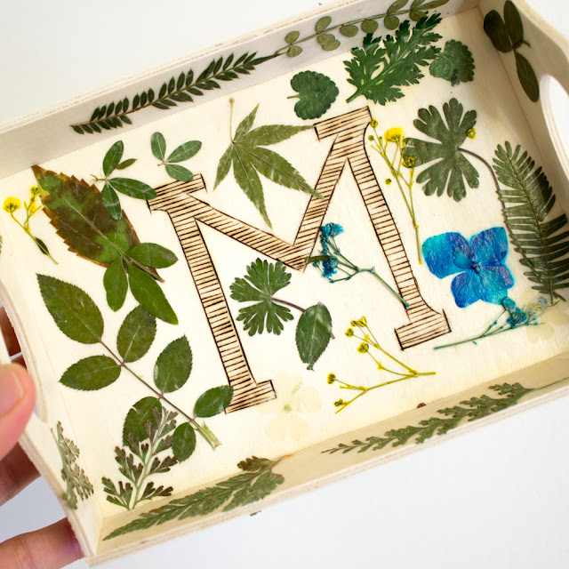 How to make pressed flower trays for a DIY kid-friendly Mother's Day craft