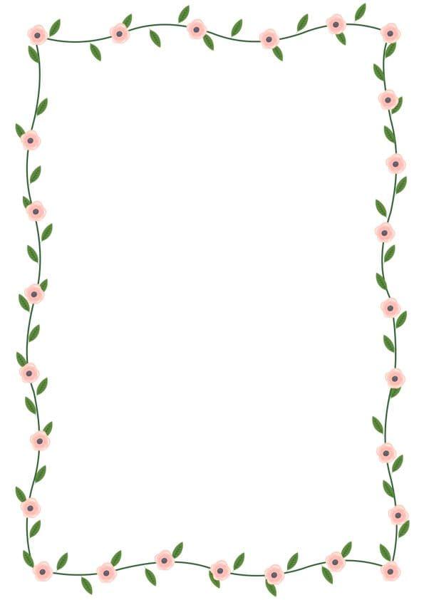 caratula para cuadernos con margenes de flores