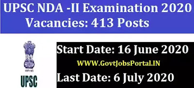 UPSC NDA II Exam 2020 notification