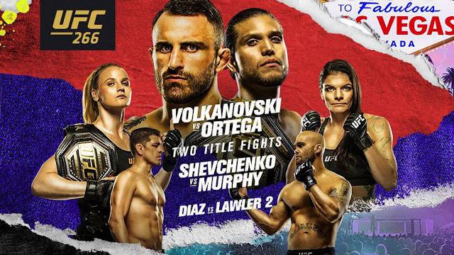 Ver UFC 266 Volkanovski vs Ortega En vivo Español Online