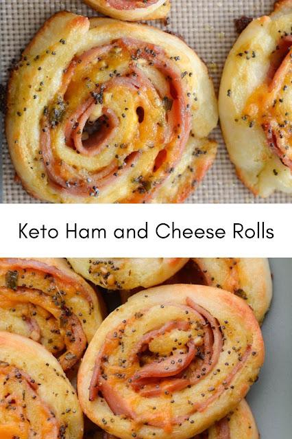 Keto Ham and Cheese Rolls