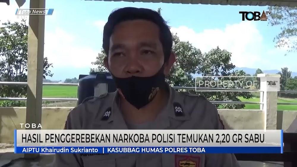 Hasil Penggerebekan Narkoba Di Salahsatu Toko Di Balige,Polisi Temukan 2,20 Gram Sabu
