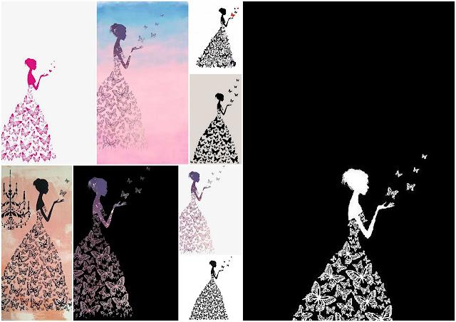 Quinceañera con Vestido de Mariposa: Invitaciones para Imprimir Gratis.