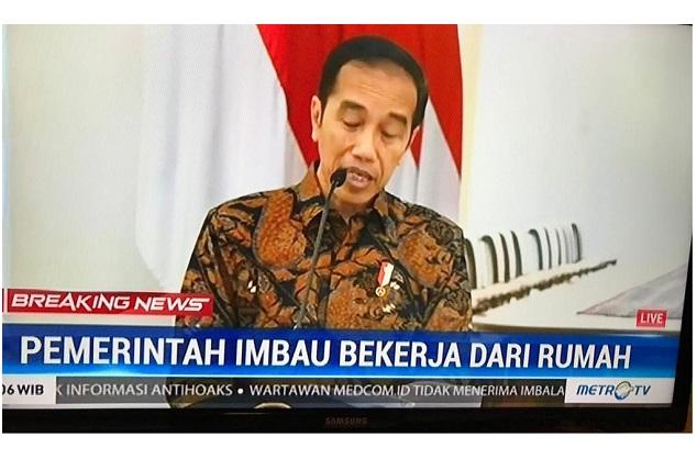 Presiden Jokowi Himbauan Social Distance Virus Corona