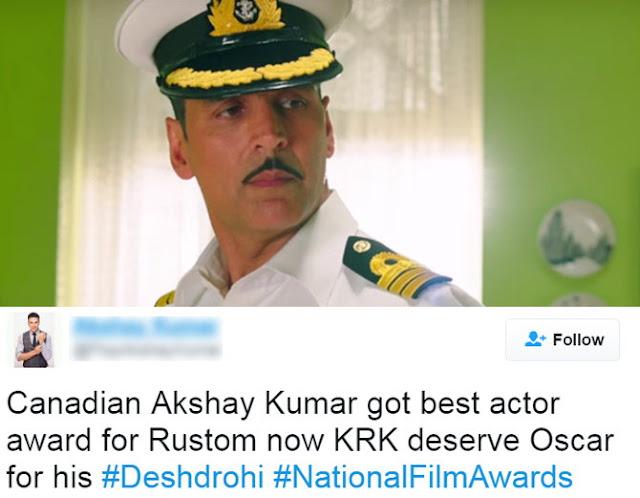 Akshay Kumar Gets Trolled Winning National Film Award 2017 for Best Actor