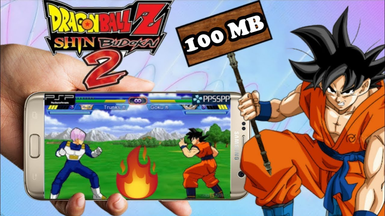 100MB Dragon Ball z shin Budokai 2 ppsspp highly compressed