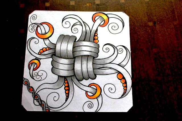 Mak Rah Mee Zentangle with Colour