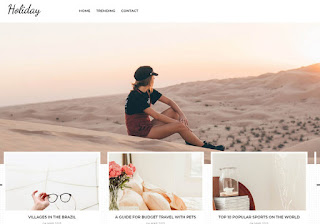 Holiday Blogger Template