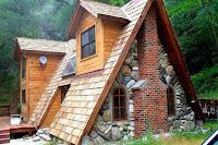 Cabañas con techos triangulares
