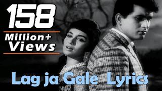 Lag Ja Gale Lyrics [ Lata Mangeshkar ] - 2020 ( ͡° ͜ʖ ͡°) | Hindi