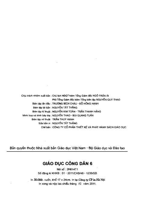 Trang 3 sach Sách Giáo Khoa Giáo Dục Công Dân Lớp 6