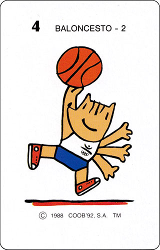 Baraja Cobi Heraclio Fournier Carta 4 Baloncesto 2