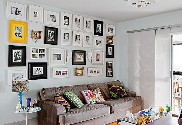 Photo frame for the wall composing the decoration