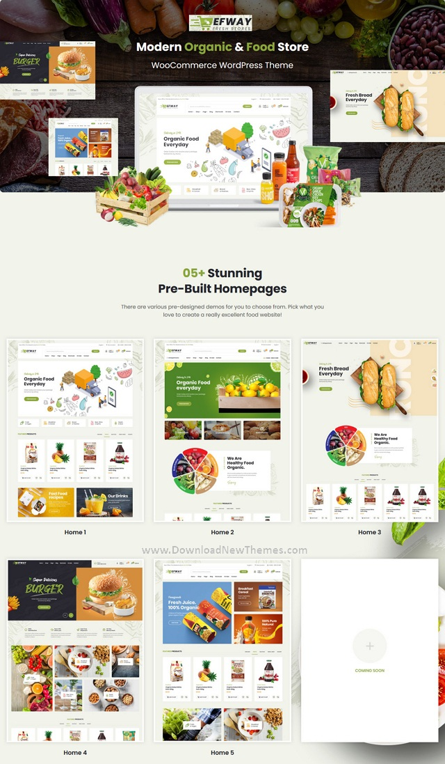 Food Store WooCommerce WordPress Theme