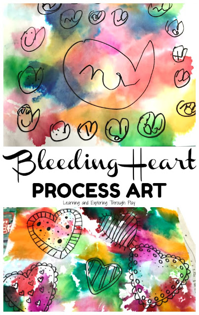 Bleeding Tissue Valentines Heart Craft for Preschoolers