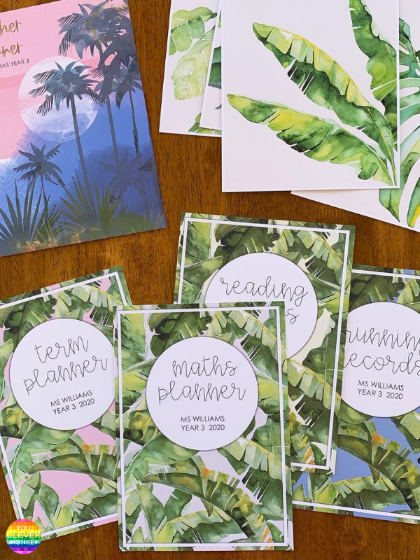 TROPICAL COAST Binder + Book Cover Pack | you clever monkey