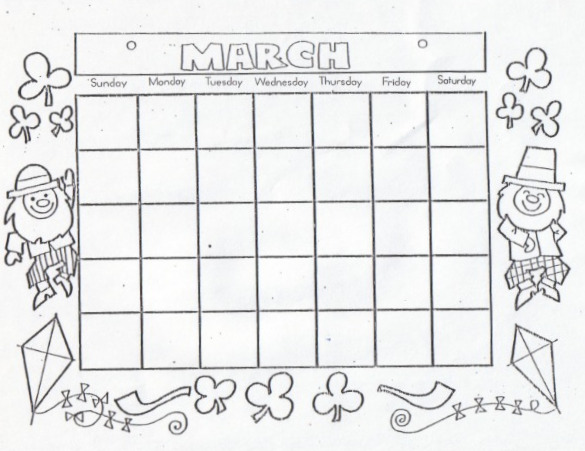 Kat's Almost Purrfect Home: CALENDARS TO COLOR IN