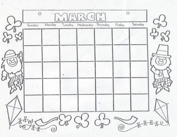 Blank September Calendar For Kids