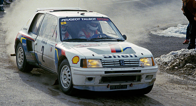 race winning peugeot 205 t16 group b rally car heading to. Black Bedroom Furniture Sets. Home Design Ideas