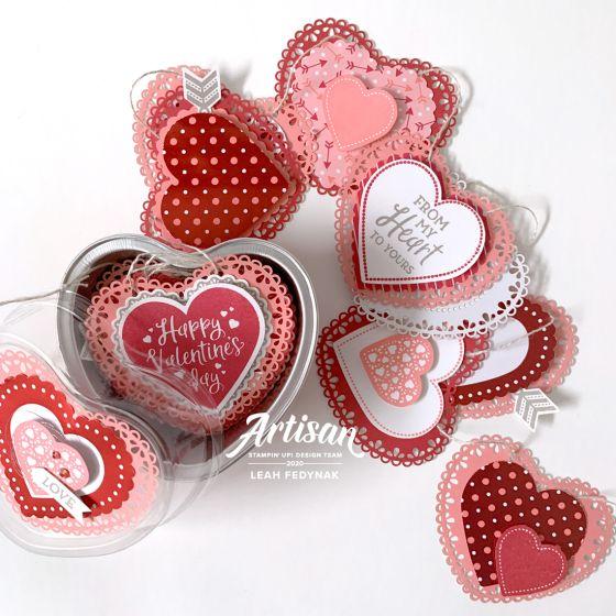 cadeaux St-Valentin avec La collection Du fond du coeur Stampin' Up! mini catalogue 2020