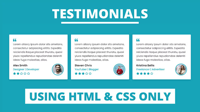 Responsive Testimonials Section using only HTML & CSS