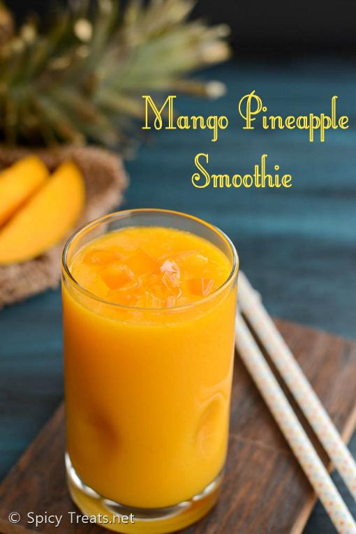 Mango Pineapple Smoothie Recipe | Easy Mango Smoothie With Pineapple