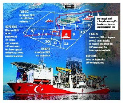 Τουρκικές προκλήσεις στο οικόπεδο 8 της κυπριακής ΑΟΖ
