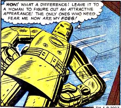 Iron Man pintó su armadura color oro