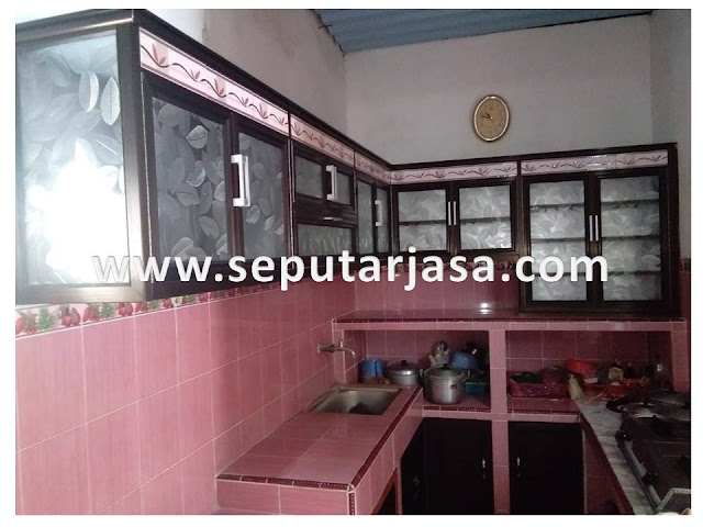 kitchen set aluminium sederhana