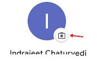 click camera icon