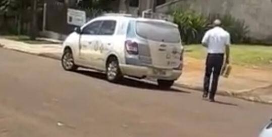 Em Roncador, veículo da Secretaria de Saúde estaria transportando cerveja