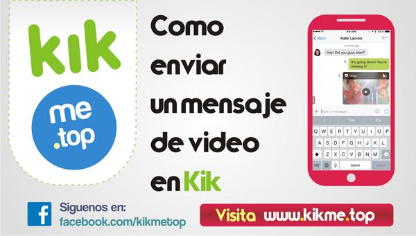 Enviar video en Kik