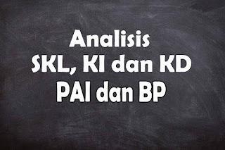 Analisis SKL KI dan KD PAI dab BP SMA Tahun 2021