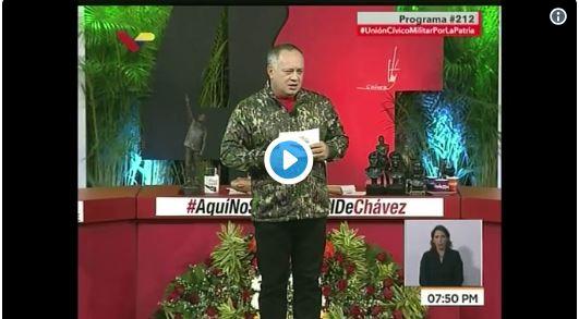 Cabello amenazó a los gringos que quieran invadir Venezuela