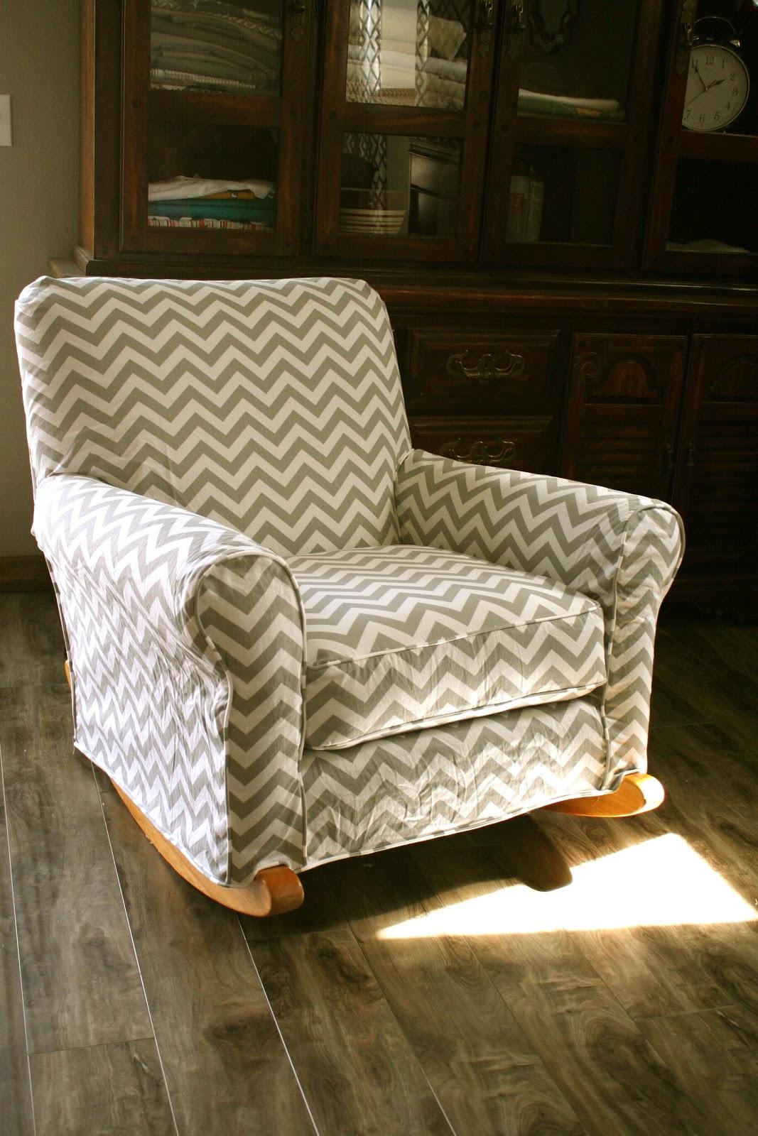 Chair Slipcover T Cushion Wooden Folding Covers Custom Slipcovers By Shelley: Chevron Nursery Rocker