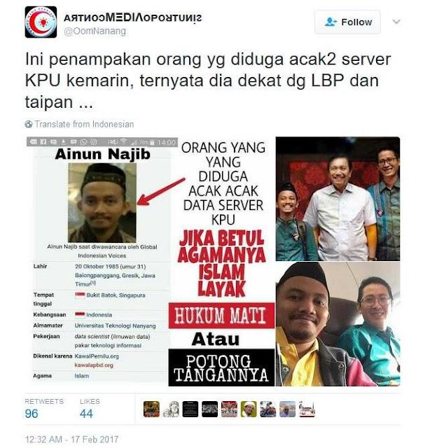 Ainun Najib, Santri yang juga Pakar IT yang Dituduh NgeHack Situs KPU Oleh Cyber Kremi