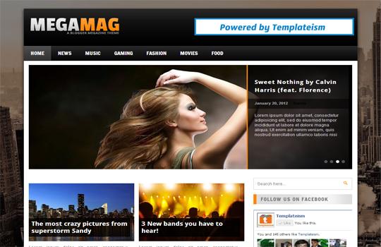 MEGAMAG BLOGGER TEMPLATE | Blogging and Earning
