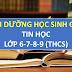 TÀI LIỆU GIẢNG DẠY BỒI DƯỠNG HỌC SINH GIỎI TIN HỌC THCS (lớp 6-7-8-9)