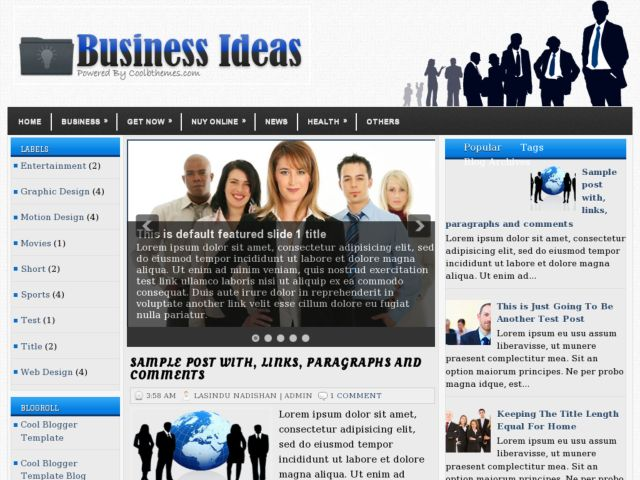 Business Ideas Blogger Template