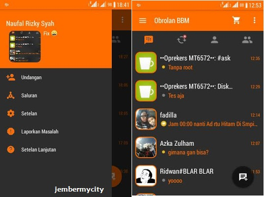BBM Orange Dark Inovation V4 Base 2.9.0.45
